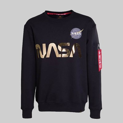 ALPHA INDUSTRIES NASA REFLECTIVE SWEAT BLACK GOLD