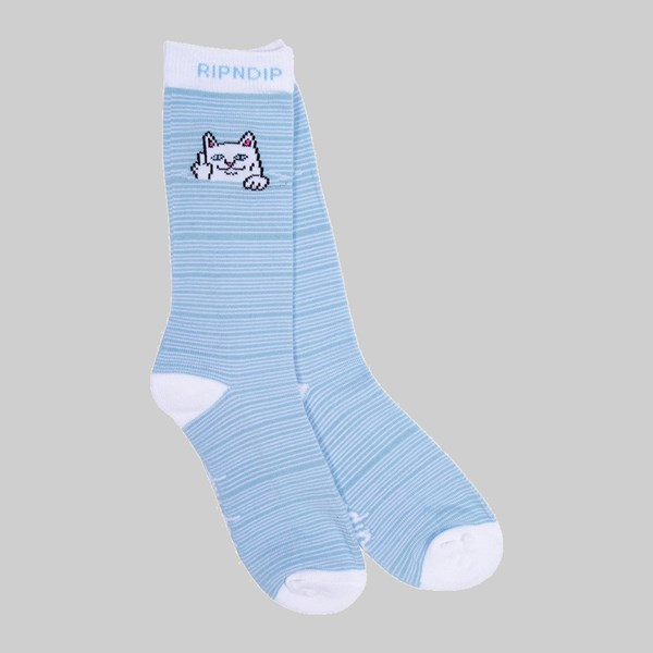 RIP N DIP PEEKING NERMAL SOCKS BABY BLUE WHITE