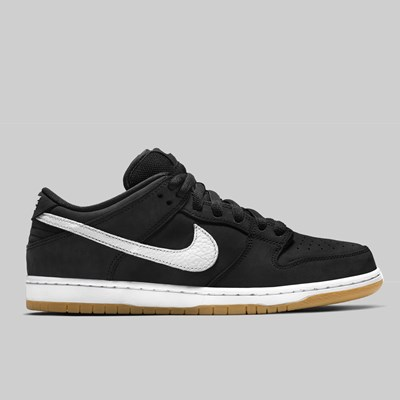 NIKE SB DUNK LOW PRO ISO 'ORANGE LABEL' BLACK WHITE GUM