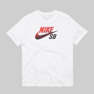NIKE SB X NBA DRY LOGO T-SHIRT WHITE UNIVERSITY RED