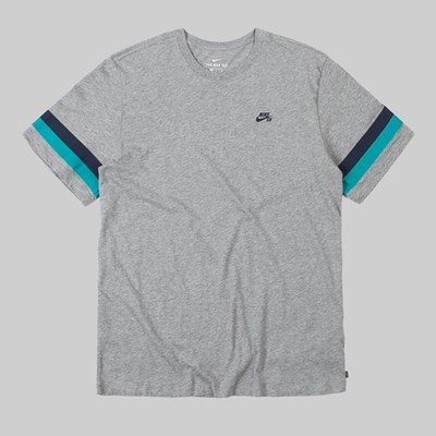 NIKE SB SLEEVE STRIPE T-SHIRT DARK GREY HEATHER
