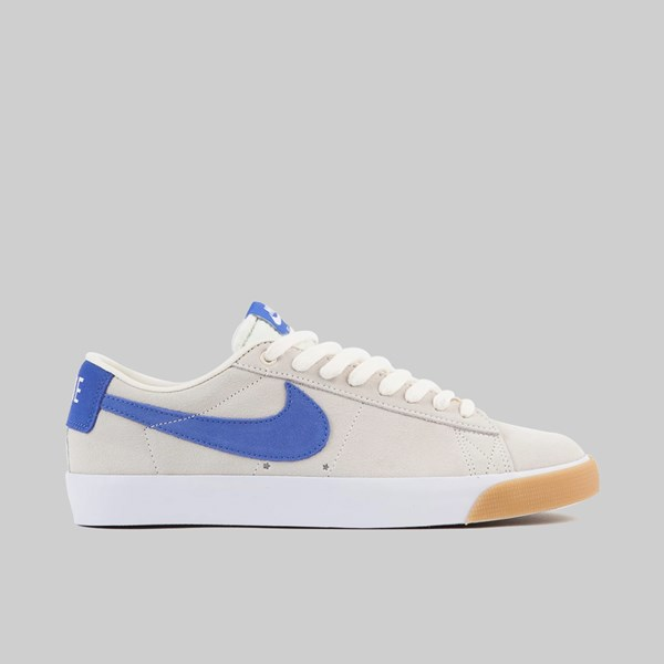 NIKE SB BLAZER LOW GT PALE IVORY PACIFIC BLUE WHITE GUM