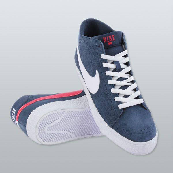 newest 621e6 b5a94 Nike SB Blazer Mid LR Trainers Armory Navy White University