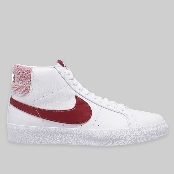 NIKE SB BLAZER MID PRM 'WRECKED PACK' WHITE TEAM RED