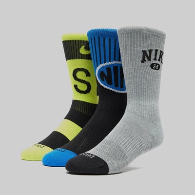 NIKE SB EVERYDAY MAX 'Y2K' 3 PACK CREW SOCKS