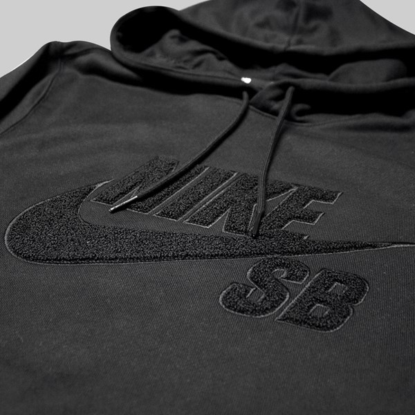 NIKE SB ICON HOOD 'CHAMBRAY PACK' BLACK BLACK