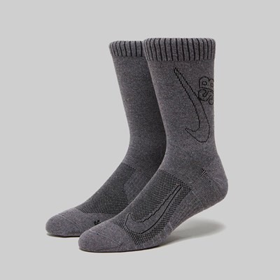 NIKE SB 'MOVE TO ZERO' DO GOOD SOCKS GREY BLACK