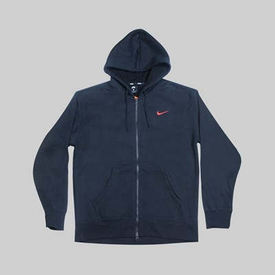 NIKE SB ORANGE LABEL HOODIE BLACK UNIVERSITY RED