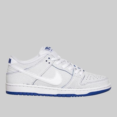 NIKE SB DUNK LOW PRO PRM 'PORCELAIN' WHITE GAME ROYAL
