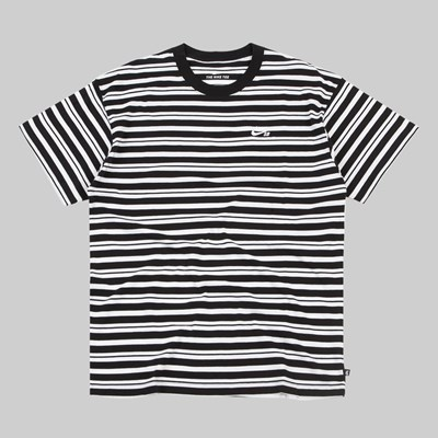 NIKE SB AOP STRIPE YD STRIPE SS T-SHIRT BLACK