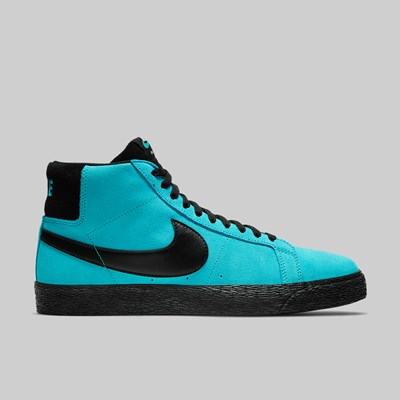 NIKE SB BLAZER MID 'INVERT PACK' BALTIC BLUE BLACK