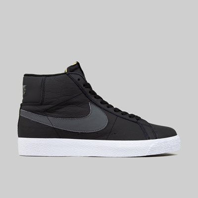 NIKE SB ZOOM BLAZER MID ORANGE LABEL BLACK DARK GREY