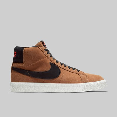 NIKE SB ZOOM BLAZER MID LT BRITISH TAN BLACK