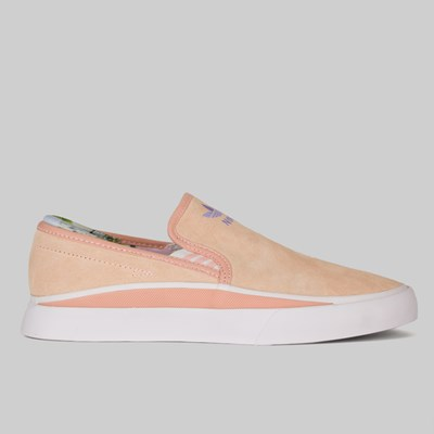 ADIDAS X NORA SABALO SLIP ON CLEAR ORANGE WHITE