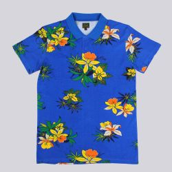 Obey Aloha Polo Shirt Victoria Blue