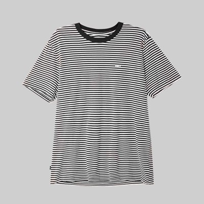 OBEY APEX STRIPE SS T-SHIRT BLACK MULTI