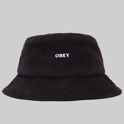 OBEY BOLD CORD BUCKET HAT BLACK