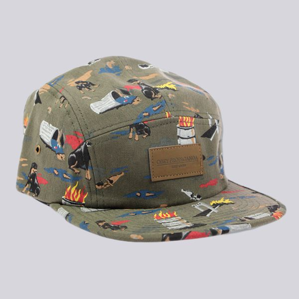 Obey City Hunting 5 Panel Cap Dark Olive  29ae5fc7fe2