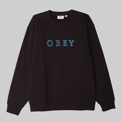 OBEY CURTIS CREW BLACK