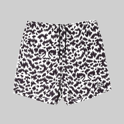 OBEY EASY RELAXED FUZZ SHORTS WHITE MULTI