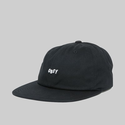 OBEY JUMBLED SNAPBACK CAP BLACK