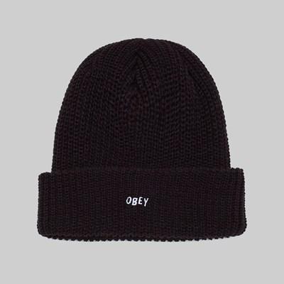 OBEY JUMBLED BEANIE BLACK