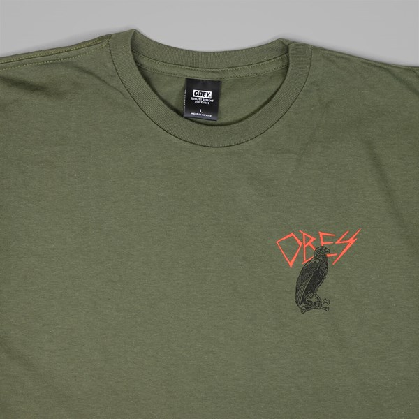 OBEY LIVING IN DARKNESS TEE MILITARY OLIVE