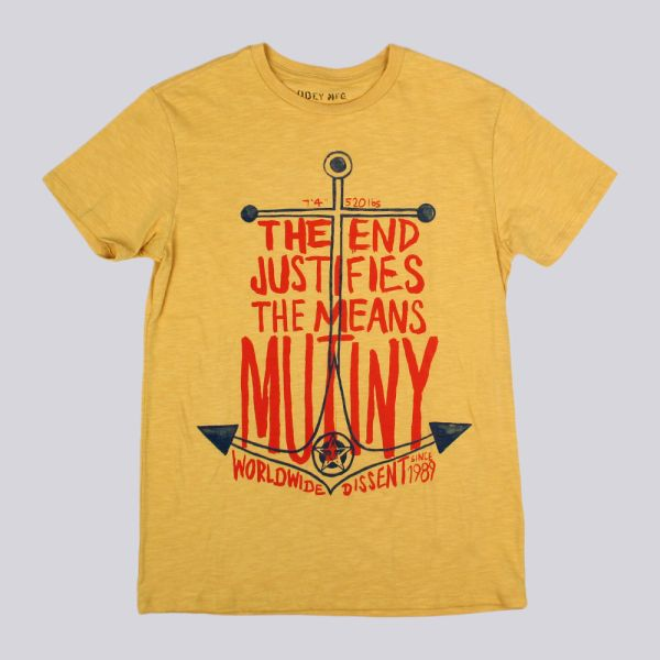 Obey Mutiny Anchor T Shirt Honey Gold