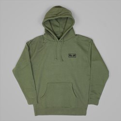 OBEY NO ONE PO HOOD FLEECE ARMY GREEN