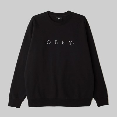 OBEY NOUVELLE II CREW SWEAT BLACK