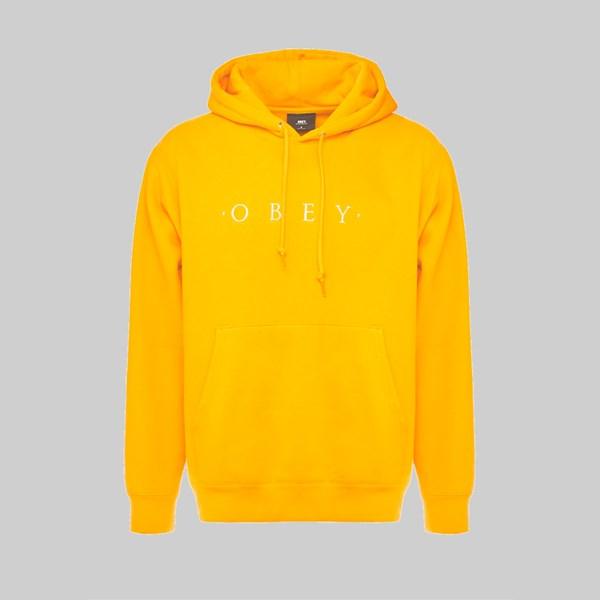 OBEY NOUVELLE II HOODED SWEAT GOLD