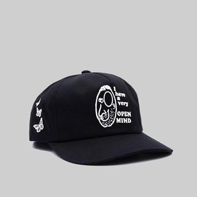 OBEY OPEN MIND SNAPBACK CAP BLACK