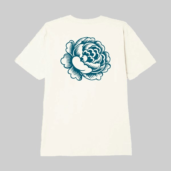 OBEY ORGANIC FLOWER SS T-SHIRT CREAM