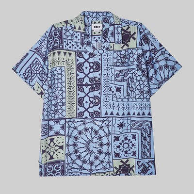 OBEY PATHOS WOVEN SHIRT NAVY MULTI
