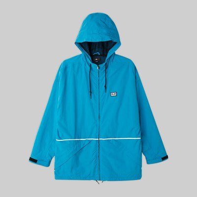 OBEY THE CAPE JACKET PURE TEAL