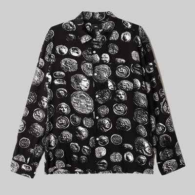 OBEY THE LOOT WOVEN LS SHIRT COINS BLACK