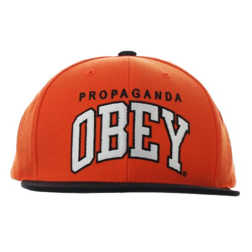 30f11e4a18236 Obey Throwback Snapback Cap Orange Black