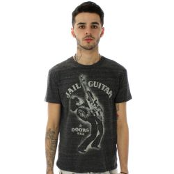 Obey Wayne Jail Guitar Doors T Shirt Heather Onyx
