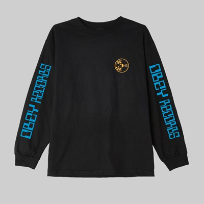 OBEY WORLDWIDE RECORDS SS T-SHIRT BLACK
