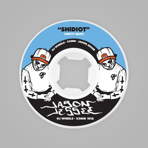 OJ WHEELS EZ EDGE JESSE SHIDIOT WHITE 55MM