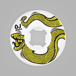 OJ WHEELS EZ EDGE SNAKES WHITE 54MM