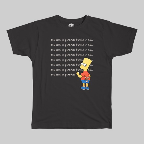PARADISE NYC EXISTENTIAL BART SS T-SHIRT BLACK