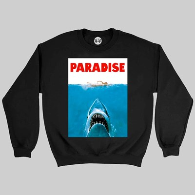 PARADISE NYC JAWS CREW SWEAT BLACK