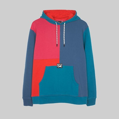 BY PARRA COLOURBLOCKED HOODED SWEAT MULTI