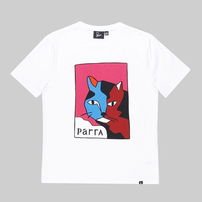 BY PARRA EARL THE CAT SS T-SHIRT WHITE
