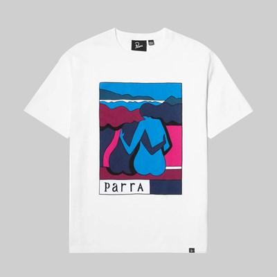 BY PARRA THE RIVERBENCH SS T-SHIRT WHITE