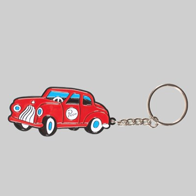 BY PARRA TOY CAR KEYCHAIN RED
