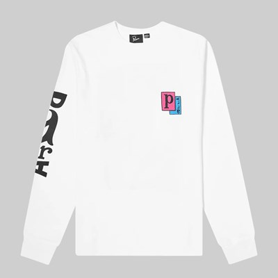BY PARRA TWISTED WOMAN LONG SLEEVE TEE WHITE
