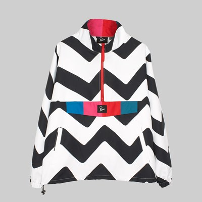 BY PARRA VASE MOUNTAIN STRIPE JACKET BLACK WHITE