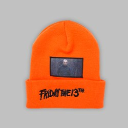 THE HUNDREDS X FRIDAY THE 13TH PATCH BEANIE ORANGE